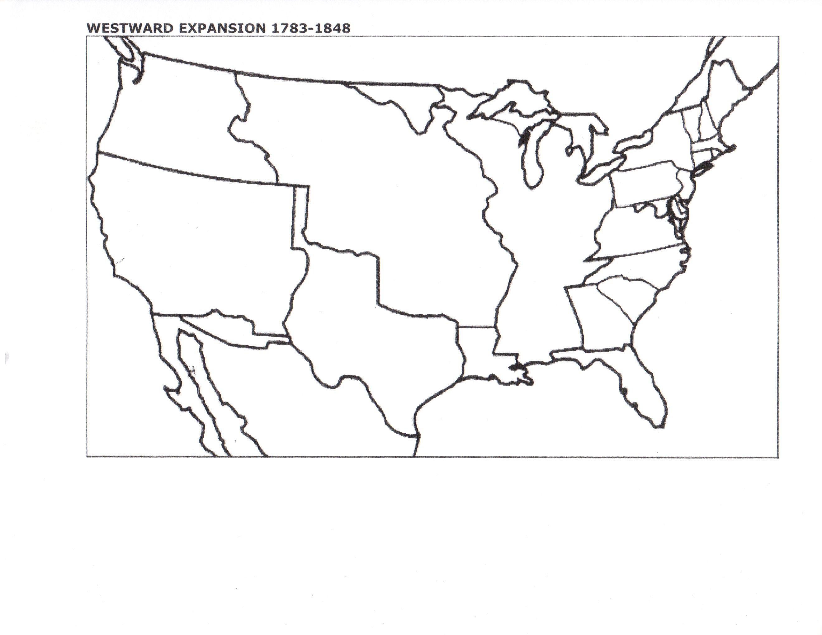 Blank Western Us Map - Us outline map blank